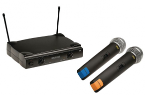 Draadloze microfoonset met 2 microfoons