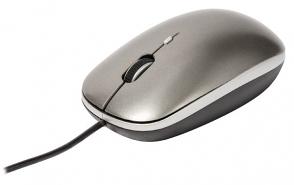 Muis met drie knoppen grijs